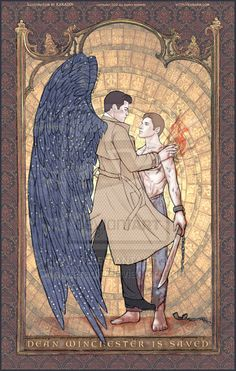 This is beautiful! Destiel-Dean is saved by Castiel.