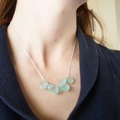 Natural Pale Blue Chalcedony Briolette Cluster by shaylalalynn, $36.00
