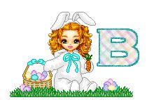 Alfabeto animado de Dolls conejita de Pascua.