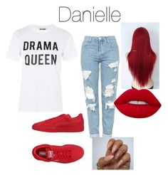"""""""Danielle bregoli"""" by candycane1916 on Polyvore featuring Love, Topshop and Puma"""