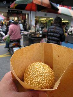 芝麻球 (羅東夜市)  Sesame ball in Taiwan