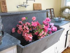 love the soapstone sink for working with flowers