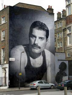 Freddie Mercury mural.