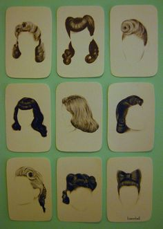 A lovely collection of vintage hairstyle! :: retro hair:: pin up lifestyle:: pin up hair