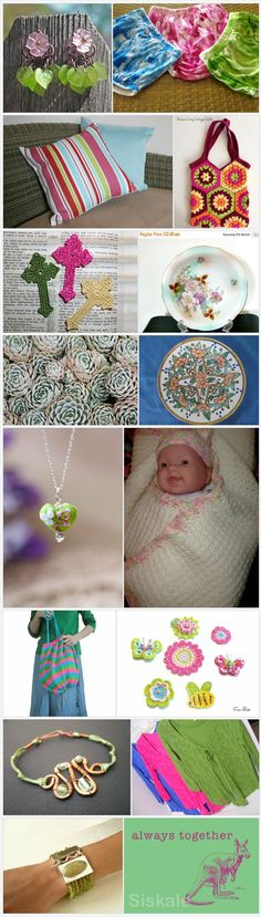 For the Love of Etsy Treasuries - Pink and Green by Shelley on Etsy