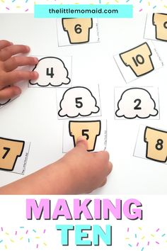 This free making ten activity is just what you need for kindergarten and first grade learners. This fun math game is perfect for math centers and is great for students to practice learning to make ten. This making ten printable is can be sued in the classroom and at home! Teaching First Grade, First Grade Math, Grade 1, Fun Math Games, Learning Activities, Teacher Resources, Teacher Tips, School Resources, Kindergarten Blogs
