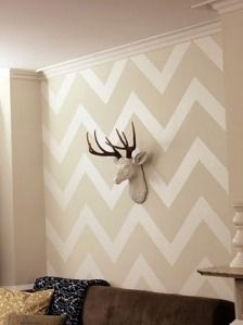 Really into a chevron accent wall right now. But can't pick a size/pattern! It will definitely be white and beige...keepin shit CLEAN!