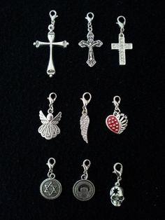 Floating Locket Dangles Cross David Claddagh Skull Angel Living Memory Pendant