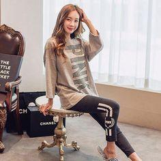 ربيع المرأة طويلة الأكمام منامة مجموعات جديدة الشتاء 2016 المرأة محبوك القطن الترفيه بدلة رياضية الملابس