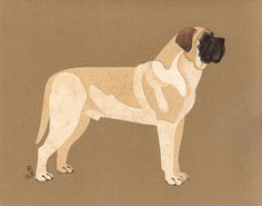 Mastiff Cut Up by CanineCutUps on Etsy, $35.00