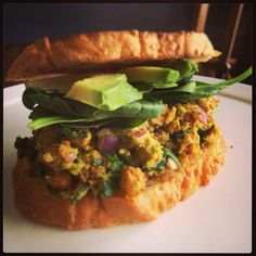 Meatless Monday:  Chickpea and Avocado Salad Sandwich from Jordan's Family of Foodies