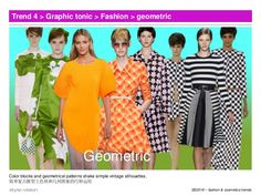 SS2016 – fashion & cosmetics trends Trend 4 > Graphic tonic > Fashion > geometric Color blocks and geometrical patterns sh...