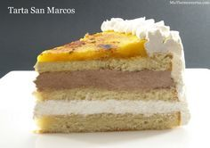 Tarta San Marcos - MisThermorecetas.com Candy Recipes, Cookie Recipes, Spanish Desserts, Crazy Cakes, Baking And Pastry, Pastry Cake, Drip Cakes, Galette, Cakes And More