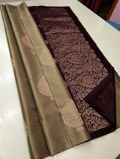 Kanjivaram Sarees Silk, Mysore Silk Saree, Satin Saree, Wedding Silk Saree, Silk Saree Blouse Designs, Saree Blouse Patterns, Golden Saree, Designer Silk Sarees, Saree Trends