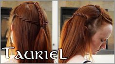 The Hobbit Hair - Tauriel  ( takes three types of braids- complicated but very accurate to film)
