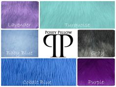 Luxury Faux Shag Fur by Posey Pillow ~ 6 Colors and 4 size options.