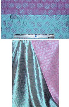 French purple/teal reversible graphic jacquard