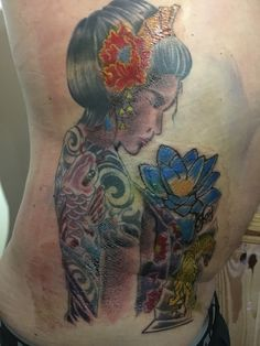 Lee at The Iron Monkey Tattoo Studio .