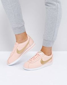 Nike // Pink and gold Cortez sneakers