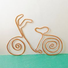 Bicycle copper bookmark from salvaged copper by TheSalvagedEdge, $16.00
