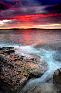 Red Dawn, Acadia National Park, Maine