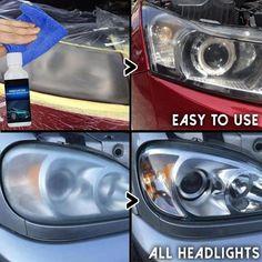 Headlight Repair, Headlight Cleaner, Cleaning Headlights On Car, Car Headlights, Driving Safety, Car Cleaning Hacks, Night Driving, Light Beam