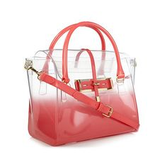 "Vince Camuto ""Jelly"" Ombré Shaded Clear Satchel . My bag"