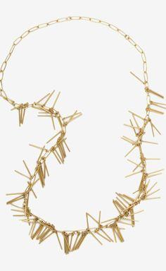 fringe layering necklace
