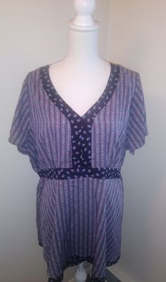 8c94512ce174ba Extra Off Coupon So Cheap motherhood maternity size purple blue short  sleeve blouse