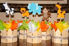Jungle Safari Baby Shower Birthday Centerpieces