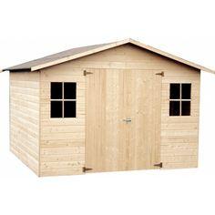 Abri de jardin en bois Marion 7,50 m², avec plancher - Décor et Jardin