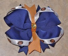 Custom St. Louis Rams Football Hair Bow!