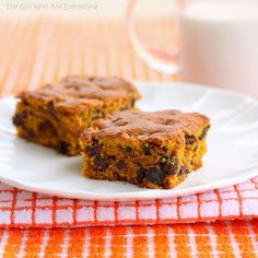 Pumpkin Chocolate Chip Squares | The Girl Who Ate Everything