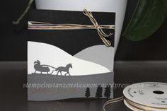 Christmas card / Weihnachtskarte /Carte de Noël with Stampin' Up!, Kling, Glückchen, Edgelits Schlittenfahrt, Sleigh Ride, masculine, Mann, männlich, pour l'homme, Berlin Stampin' Up!, SU   https://stempelnstanzenstaunen.wordpress.com/