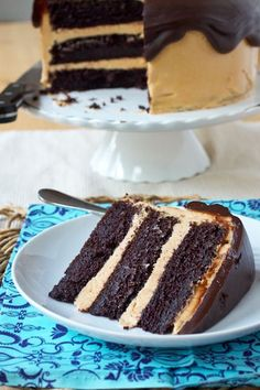 Fudgy Chocolate Peanut Butter Cake ~ I made this for my Mom's (who LOVES anything with Peanut Butter and Chocolate) Birthday and it was AMAZING! **NOTE TO SELF** Next time I make it I will cut the sugar back some for personal taste.