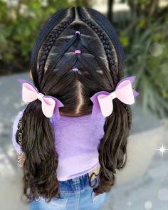 Little Girl Hairstyles, Braided Hairstyles, Children Hair, Diy Hair Bows, Hair Dos, Cami, Little Girls, Braids, Hair Styles