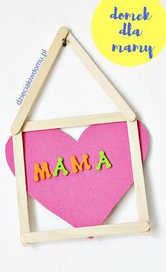 domek z kreatywnych patyczków - kreatywny prezent DIY na Dzien Mamy Diy, Home Decor, Beautiful, Decoration Home, Bricolage, Room Decor, Do It Yourself, Home Interior Design, Homemade