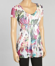 Love this Pink Sublimation Cap-Sleeve Top on #zulily! #zulilyfinds