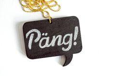 Kette »Päng!« von anything but me and my monkey auf DaWanda.com