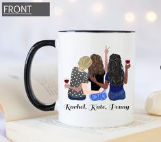 3 Best Friends, Best Friend Mug, Friend Mugs, Friend Birthday Gifts, Best Friend Gifts, Gifts For Friends, Graduation Gifts For Sister, Personalized Graduation Gifts, Sister Gifts