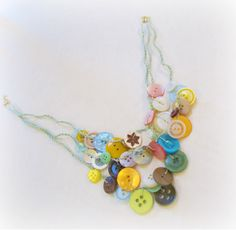 another button necklace. bib style this time