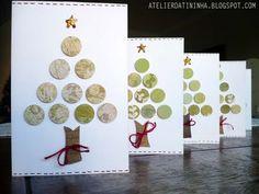 Cartão de natal #papercraft #cardmaking #christmas #PAP #tutorial #DIY