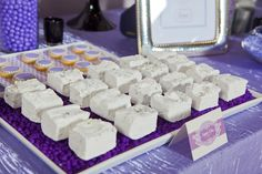 lavender dessert table