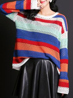 Crazy for Color: Sweater with mega long sleeves