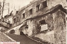 """Hitler's Berghof. The Berghof ruins in early 1952, shortly before their demolition. The sign read """"Keep Out, Building Unsafe, No Unauthorized Admittance.""""  (""""Illustrated London News,"""" 5 January 1952)"""