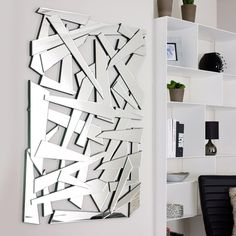 #Contemporary mirror @DwellUK Great for reflecting light into a dark space.