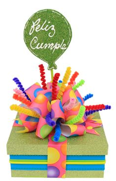 ~What a colorful and fun gift topper!!