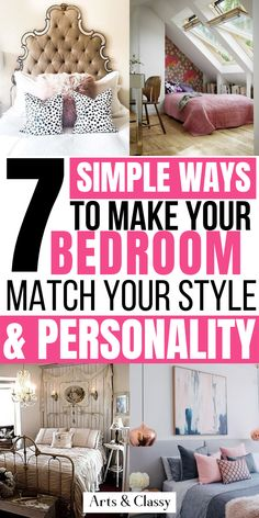 How to decorate your bedroom to reflect your personality on a budget - Bedroom inspiration Small Bedroom Ideas For Women, Bedroom Decor For Women, Bedroom Themes, Diy Bedroom Decor, Budget Bedroom, Small Room Bedroom, Small Rooms, Master Bedroom, Modern Bedroom