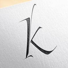This how my new K works by itself. Simple but I'm quite happy with it. #caligrafía #calligraphy #logo #logodesigns #lettering #letteringtime #calligraphymasters #mrkams #madrid #2016