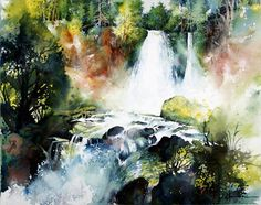 Beautiful demo of a watercolor painting